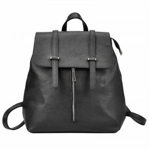 Dámský kožený batoh Vera pelle Beathag - černá