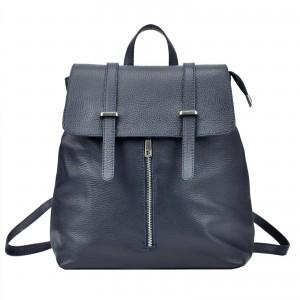 Dámský kožený batoh Vera pelle Beathag - tmavě modrá