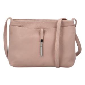 Dámská crossbody kožená kabelka Delami Serena - starorůžová