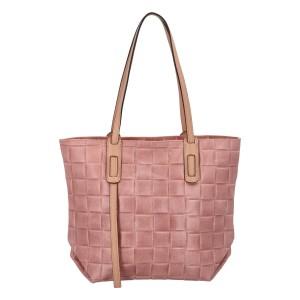 Dámská kožená kabelka Delami Elena - růžová