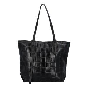 Dámská kožená kabelka Delami Elena - černá