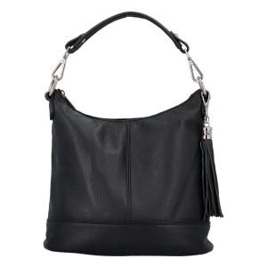 Dámská crossbody kožená kabelka Delami Sara - černá