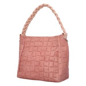 Dámská kožená kabelka Delami Chiara - růžová