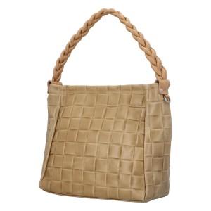 Dámská kožená kabelka Delami Chiara - béžová