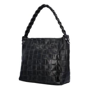 Dámská kožená kabelka Delami Chiara - černá