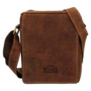 Pánská taška přes rameno Always Wild James - světle hnědá