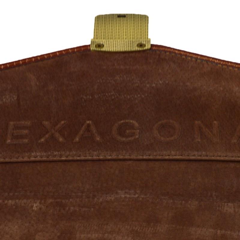 Celokožená pánská aktovka Hexagona 111006 - hnědá