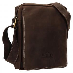 Pánská taška přes rameno Always Wild James - tmavě hnědá