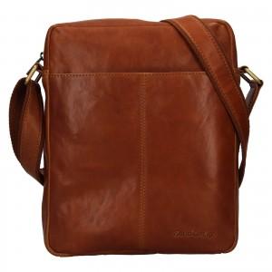 Pánská kožená taška přes rameno SendiDesign Felix - koňak