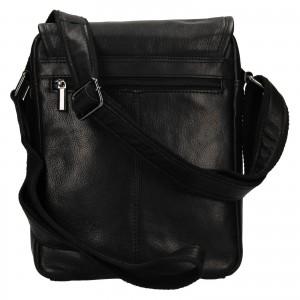Pánská kožená taška přes rameno SendiDesign Pauls - černá