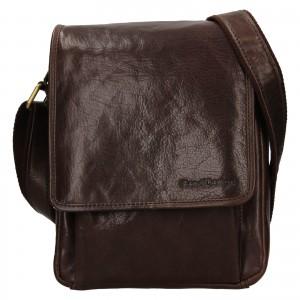 Pánská kožená taška přes rameno SendiDesign Pauls - hnědá