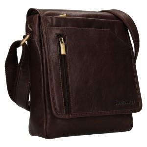 Pánská kožená taška přes rameno SendiDesign Ladis - hnědá