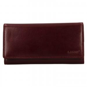Dámská kožená peněženka Lagen Victorias - vínová