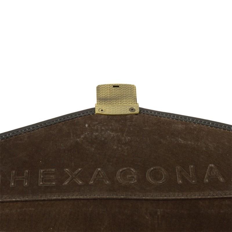 Celokožená pánská aktovka Hexagona 111006 - černá