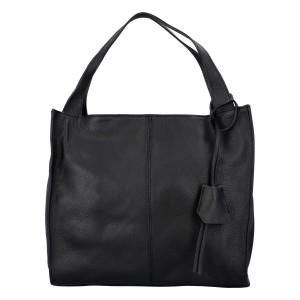 Dámská kožená kabelka Delami Camilla - černá