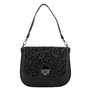 Dámská crossbody kožená kabelka Delami Vanessa - černá