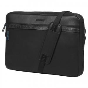 Pánská kožená taška přes rameno Burkely Bolds - černá