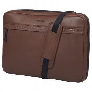 Pánská kožená taška přes rameno Burkely Bolds - koňak
