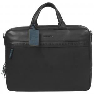 Pánská kožená taška na notebook Burkely Move - černá