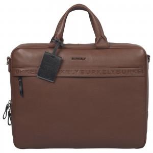 Pánská kožená taška na notebook Burkely Move - koňak