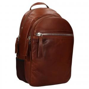 Pánský kožený batoh Ashwood Jacob - koňak