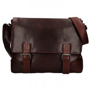 Pánská kožená taška přes rameno Ashwood Jack - koňak