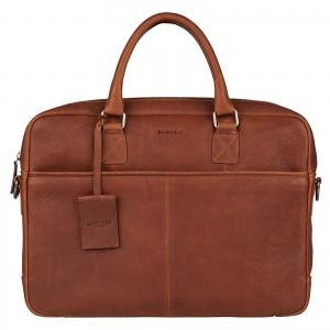 Pánská kožená taška na notebook Burkely Sammy - koňak
