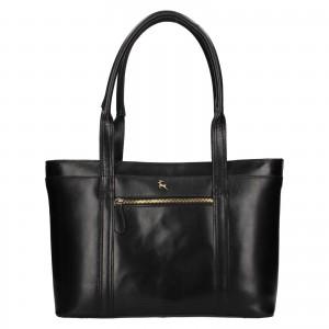Dámská kožená kabelka Ashwood Amelia - černá