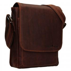 Pánská kožená taška přes rameno Greenwood Thomas - koňak