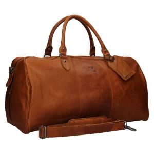 Pánská kožená cestovní taška Mustang Vojta - koňak