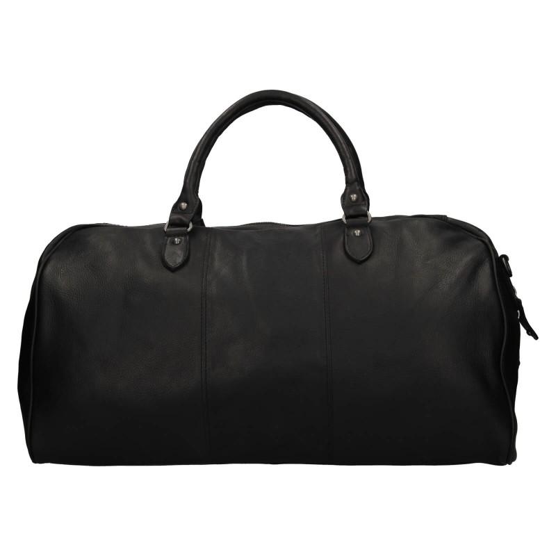 Pánská kožená cestovní taška Mustang Vojta - černá
