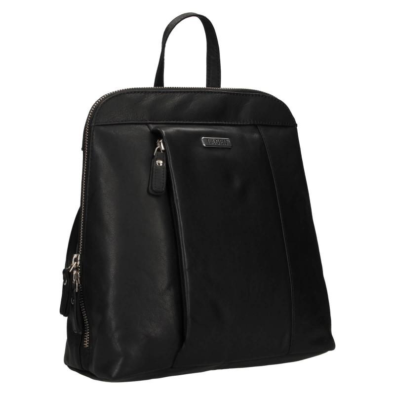 Dámský kožený batoh Lagen Karina - černá