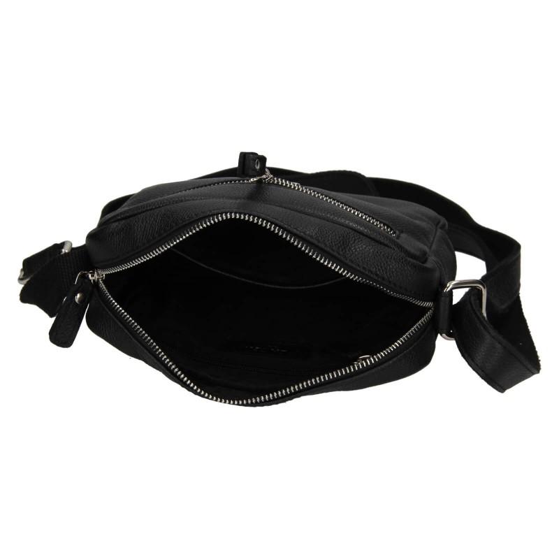 Dámská kožená crosbody kabelka Lagen Jana - černá