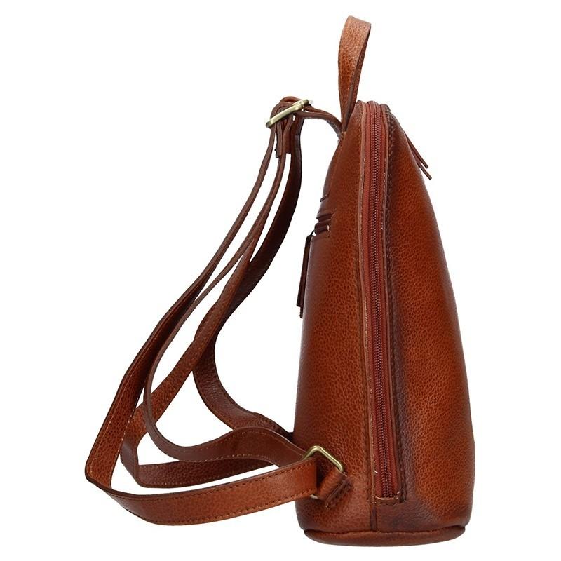 Dámský kožený batoh Daag Native 16 - hnědá