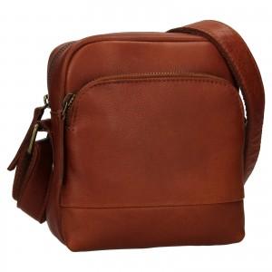 Pánská kožená taška přes rameno Ashwood Angel - koňak