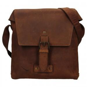 Pánská kožená taška přes rameno Ashwood Sam - světle hnědá