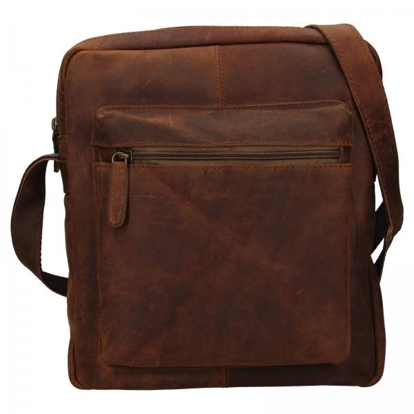Pánská kožená taška přes rameno Ashwood Ryan - světle hnědá