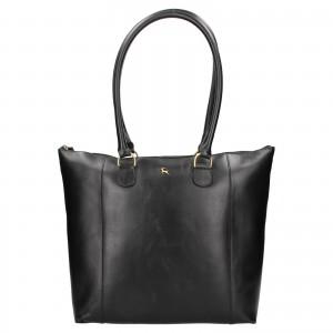 Dámská kožená kabelka Ashwood Ellie - černá
