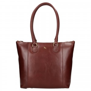 Dámská kožená kabelka Ashwood Ellie - tmavě hnědá