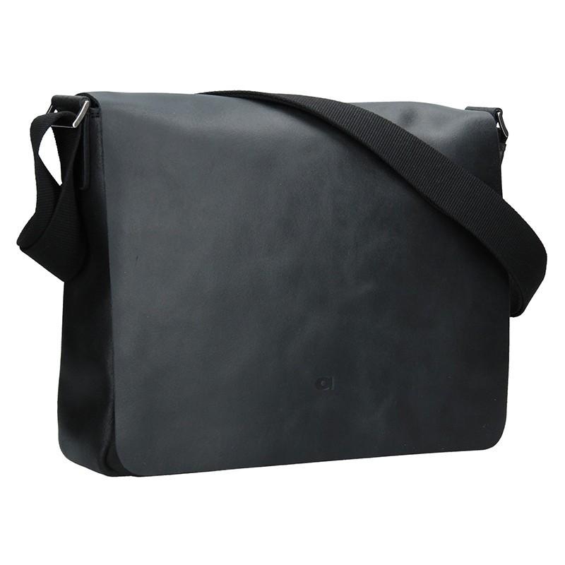 Kožená pánská taška Daag SMASH 75 - černá