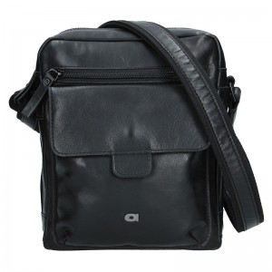 Pánská kožená taška Daag TAKE AWAY 5 - černá