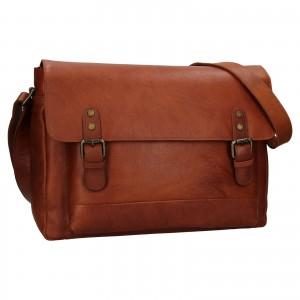 Pánská kožená taška na notebook Ashwood Noah - světle hnědá