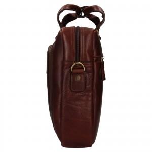 Pánská kožená taška na notebook Ashwood Ben - hnědá