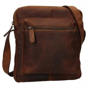 Pánská kožená taška přes rameno Ashwood Patrick - světle hnědá