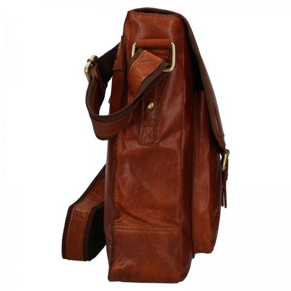 Pánská kožená taška přes rameno Ashwood Edward - koňak