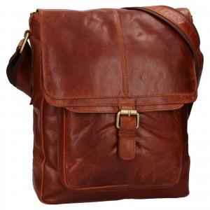 Pánská kožená taška přes rameno Ashwood Edward - tmavě hnědá
