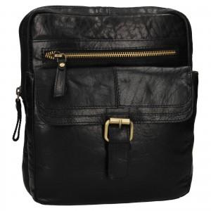 Pánská kožená taška přes rameno Ashwood Nicholas - černá