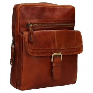 Pánská kožená taška přes rameno Ashwood Nicholas - koňak