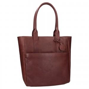 Dámská kožená kabelka Ashwood Luren - tmavě hnědá