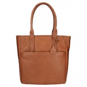 Dámská kožená kabelka Ashwood Luren - světle hnědá